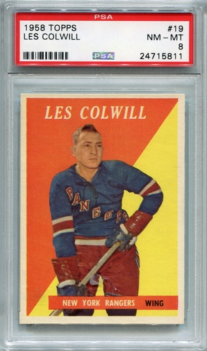 1958 Topps Les Colwill #19 PSA 8
