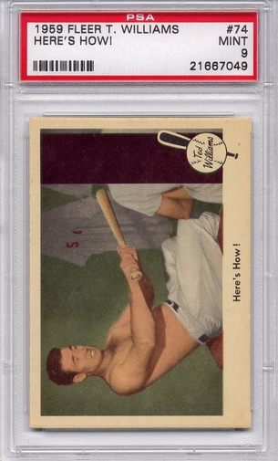 1959 Fleer Ted Williams - Here's How! #74 PSA 9