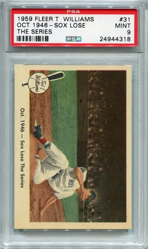 1959 Fleer Ted Williams - Oct. 1946 - Sox Lose The Series #31 PSA 9