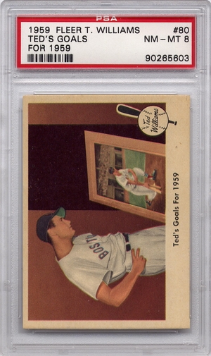 1959 Fleer Ted Williams - Ted's Goals for 1959 (Last Card) #80 PSA 8