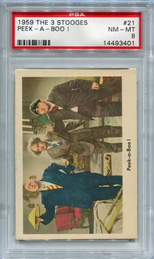 1959 The 3 Stooges - Peek-A-Boo! #21 PSA 8