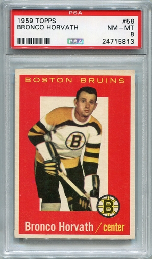 1959 Topps Bronco Horvath #56 PSA 8