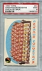 1959 Topps Washington Redskins Team Checklist Back #91 PSA 9