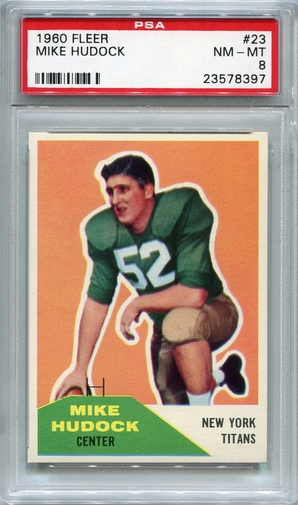 1960 Fleer Mike Hudock #23 PSA 8