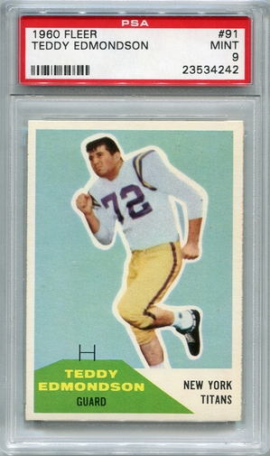 1960 Fleer Teddy Edmondson #91 PSA 9