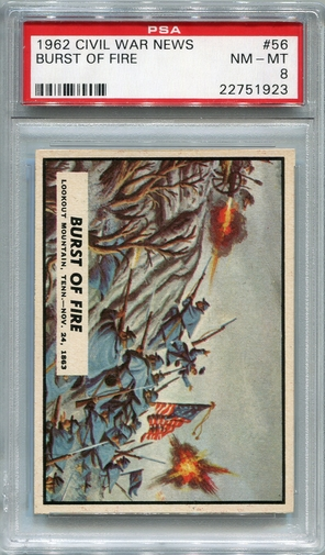 1962 Civil War News - Burst Of Fire #56 PSA 8