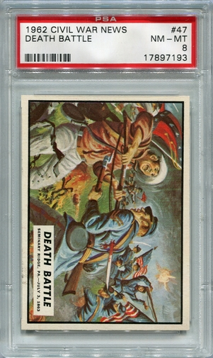 1962 Civil War News - Death Battle #47 PSA 8