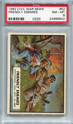 1962 Civil War News - Friendly Enemies #52 PSA 8