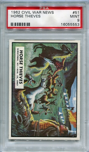 1962 Civil War News - Horse Thieves #51 PSA 9