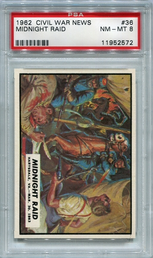 1962 Civil War News - Midnight Raid #36 PSA 8