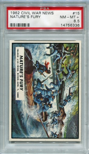 1962 Civil War News - Nature's Fury #15 PSA 8.5
