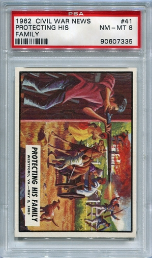 1962 Civil War News - Protecting His Family #41 PSA 8