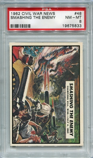 1962 Civil War News - Smashing The Enemy #48 PSA 8