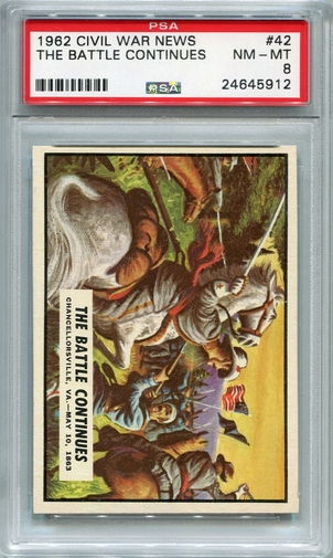 1962 Civil War News - The Battle Continues #42 PSA 8
