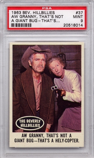 1963 Beverly Hillbillies - Aw Granny, That's Not A Giant Bug #37 PSA 9