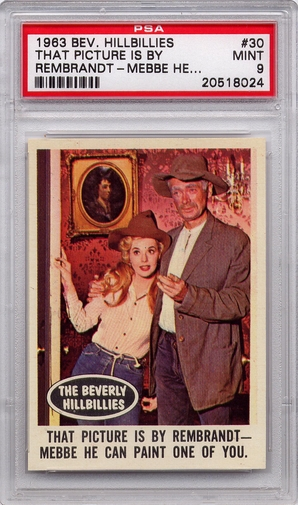 1963 Beverly Hillbillies - That Picture Is By Rembrandt #30 PSA 9