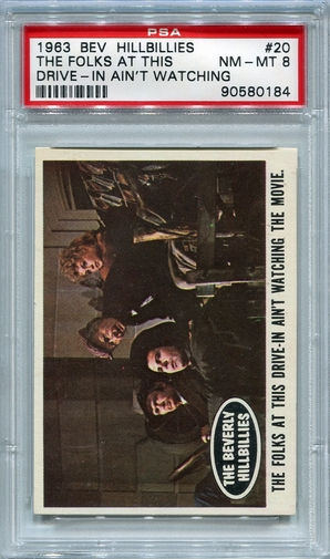 1963 Beverly Hillbillies - The Folks At This Drive-In Ain't Watching #20 PSA 8