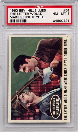 1963 Beverly Hillbillies - The Letter Would Make Sense #54 PSA 8