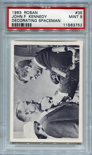 1963 Rosan John F. Kennedy - Decorating Spaceman #35 PSA 9
