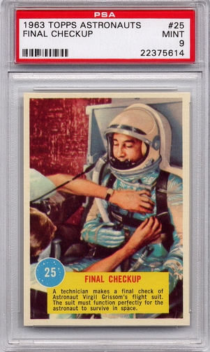 1963 Topps Astronauts - Final Checkup #25 PSA 9