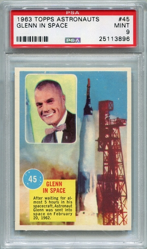 1963 Topps Astronauts - Glenn In Space #45 PSA 9