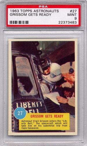 1963 Topps Astronauts - Grissom Gets Ready #27 PSA 9