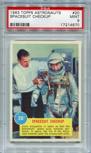 1963 Topps Astronauts - Spacesuit Checkup #20 PSA 9