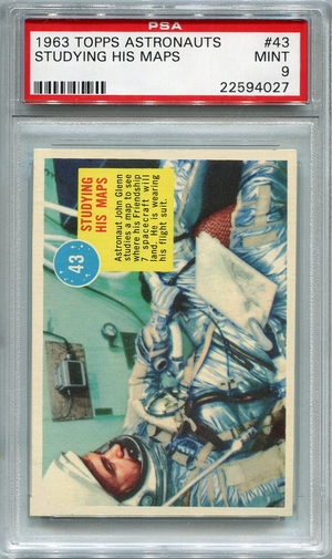 1963 Topps Astronauts - Studying His Maps #43 PSA 9