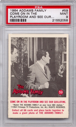 1964 Addams Family - Come On In The Playroom And See #59 PSA 9