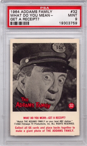 1964 Addams Family - What Do You Mean - Get A Receipt? #32 PSA 9