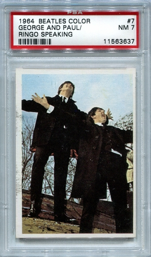 1964 Beatles Color - George And Paul - Ringo Speaking #7 PSA 7