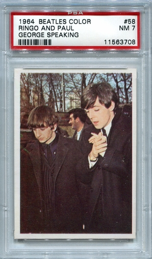 1964 Beatles Color - Ringo And Paul - George Speaking #58 PSA 7
