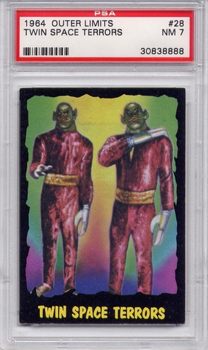 1964 Outer Limits - Twin Space Terrors #28 PSA 7