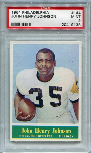 1964 Philadelphia John Henry Johnson #144 PSA 9