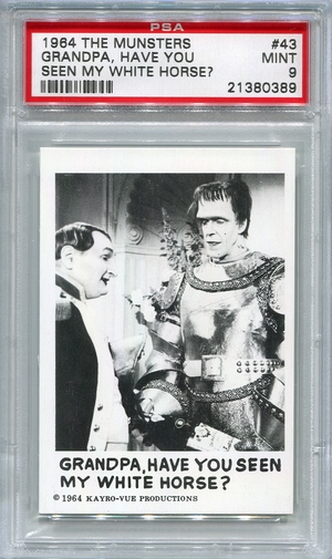 1964 The Munsters - Grandpa, Have You Seen My White Horse? #43 PSA 9