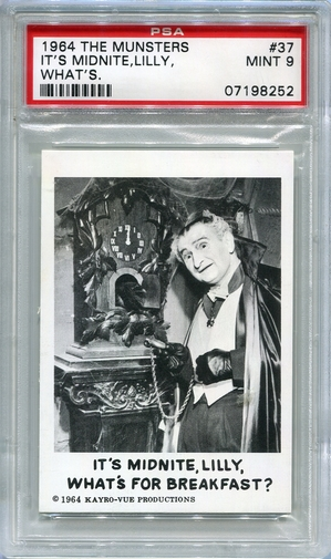 1964 The Munsters - It's Midnite, Lilly, What's For Breakfast #37 PSA 9