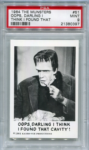1964 The Munsters - Oops, Darling I Think I Found That Cavity! #51 PSA 9