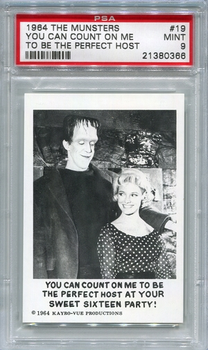1964 The Munsters - You Can Count On Me #19 PSA 9