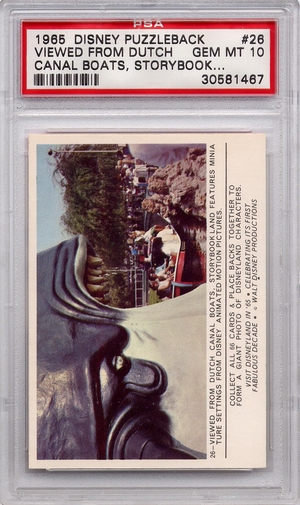 1965 Disney Puzzleback - Viewed From Dutch Canal Boats #26 PSA 10