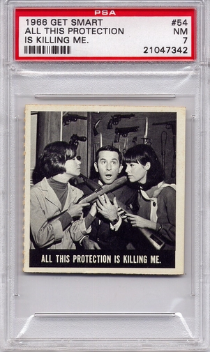 1966 Get Smart - All This Protection Is Killing Me #54 PSA 7