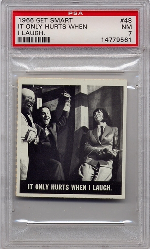 1966 Get Smart - It Only Hurts When I Laugh #48 PSA 7