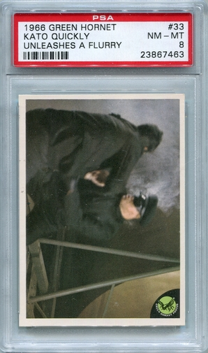 1966 Green Hornet - Kato Quickly Unleashes A Flurry #33 PSA 8