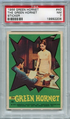 1966 Green Hornet Sticker - The Green Hornet #40 PSA 7