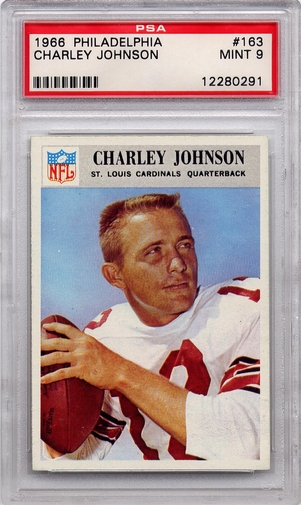 1966 Philadelphia Charley Johnson #163 PSA 9