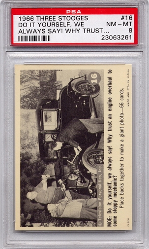 1966 Three Stooges - Do It Yourself, We Always Say! #16 PSA 8