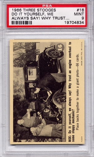 1966 Three Stooges - Do It Yourself, We Always Say! #16 PSA 9