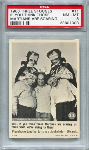 1966 Three Stooges - If You Think Those Martians Are Scaring #11 PSA 8
