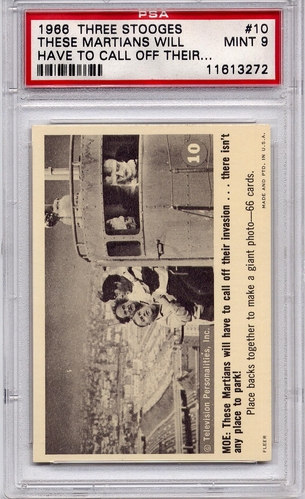 1966 Three Stooges - These Martians Will Have To Call #10 PSA 9