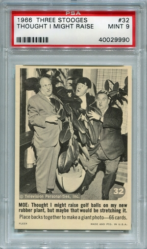 1966 Three Stooges - Thought I Might Raise Golf Balls #32 PSA 9