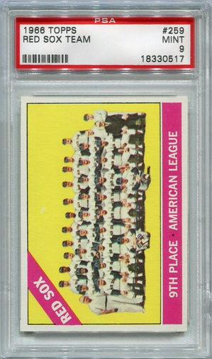1966 Topps Boston Red Sox Team #259 PSA 9